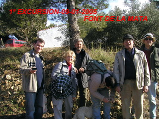 1ª Salida Geológica Font de la Mata año 2005