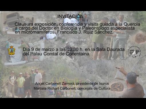 Clausura exposición Palau Comtal de Cocentaina